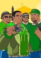 GTA:sanandreas Grove street guys by dmtr1981