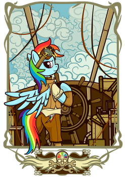 Airship Pirate by NoReasonToHope