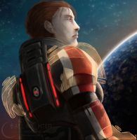Mass Effect:  Morwin Shepard by Armesan