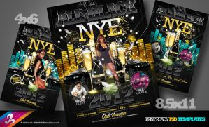 All Black NYE Flyer Template by AnotherBcreation