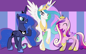 3 ruling Alicorns WP by AliceHumanSacrifice0