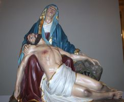 Mary and Jesus Statue Stock by SalemCatStock