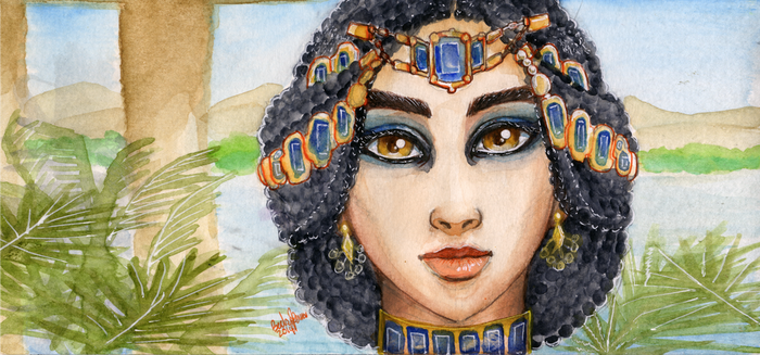 Nile watercolor on moleskine by BeckyPennArt