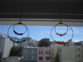 Delicate  Sparkling  Hoops by WhisperingWindxx