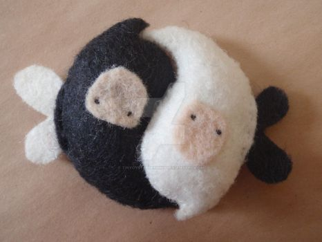 Yin and Yang Friendship Imps by tinyoysterdesigns