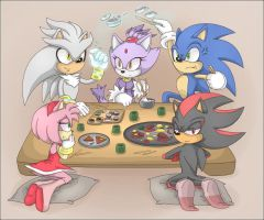 - dinner time - by Shira-hedgie
