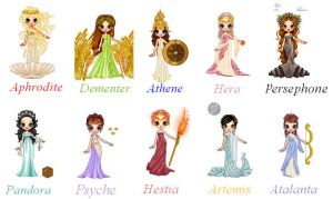 Women Of Greek Mythology by sofie111
