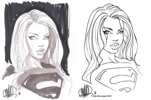 Joe Benitez Supergirl - Inked by EricLinquist