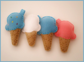 Icecream Keychains by starry-eyedkid