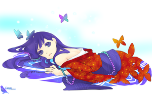 violet butterfly by chisachan2010