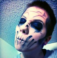 Halloween makeup day 8 by grim-doll