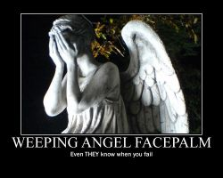 WEEPING ANGEL FACEPALM by legacyandcrok