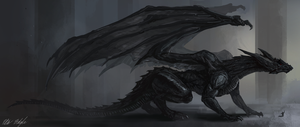 Black Dragon Tempest by PeterPrime