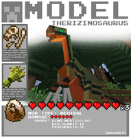 Minecraft - Therizinosaurus by Dragonith