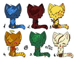 the best cats adoptable 10-20 points closed by wolfyLRiina
