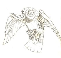 robot owl by hughnewell