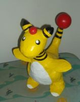Paiper Mache Ampharos by OneLoneTree