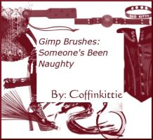 Gimp Brushes: Naughty by coffinkittie