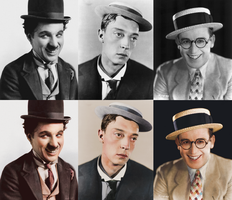 Silent Comedians Colorization by Wickfield