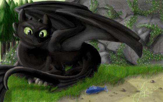 Toothless by autumnfeuille