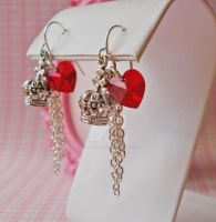 Queen of Hearts Earrings by FatallyFeminine