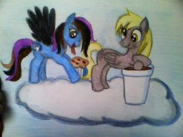 Derpy Hooves...want to trade? by mistresscarrie