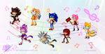 Theatrhythm Sonic the Hedgehog by Azurelly