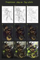 The Witch Progression Steps by yohat