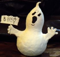 First Gourd Ghost Sculpture by tarpalsfan