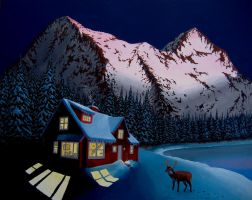 Cabin in the Mountains by DeloreanREB
