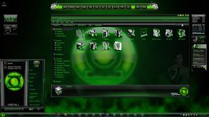 Windows 7 Themes: GreenLantern by TheBull1