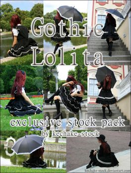 Gothic Lolita exclusive pack by Kechake-stock