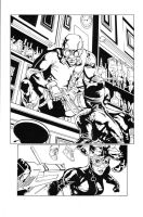 Catwoman pg5 inks by madman1