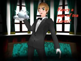 [MMD]Fancy a cup of Tea love? Butler!England by Cyndyrellah