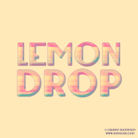 Lemondrop Typographic by nymphont