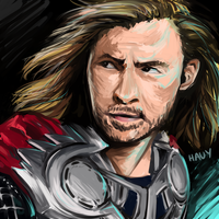 1hr challenge: Thor by j-hauyan