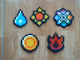 Kanto Badges. Perler Version by Nigaito-von-Karma