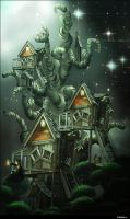 Tree houses by whiteowl152