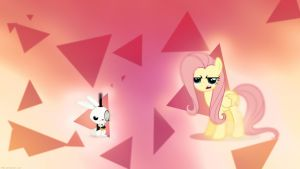 Fluttershy Is Not Amused - 4k Wallpaper by P3r0