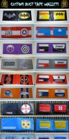 Custom Duct Tape Wallets by ZombieHunt3r