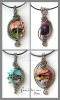 Glassilicious pendants by Faeriedivine