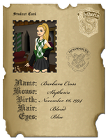 My Hogwarts student card by stasiabv