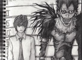 Light and Ryuk by SabriHasankolli