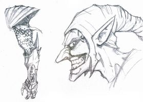 Green Goblin Sketch by DKuang