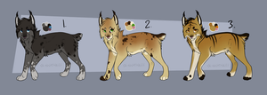 Lynx adoptables set 2 -CLOSED by Ivey-Kat