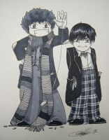 The Two Doctors Are Chibis by Marker-Mistress