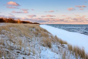 Baltic Sea Winter Sunrise by Dave-Derbis