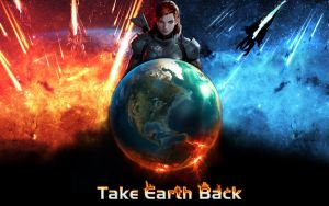 Mass Effect Wallpaper Take Earth Back version 2 by SKstalker