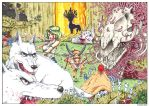 #8 COLOR SPREAD: Princess Mononoke by studioodin