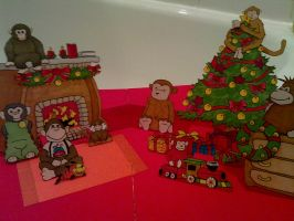Monkey 8 christmas scene by WillziakDS